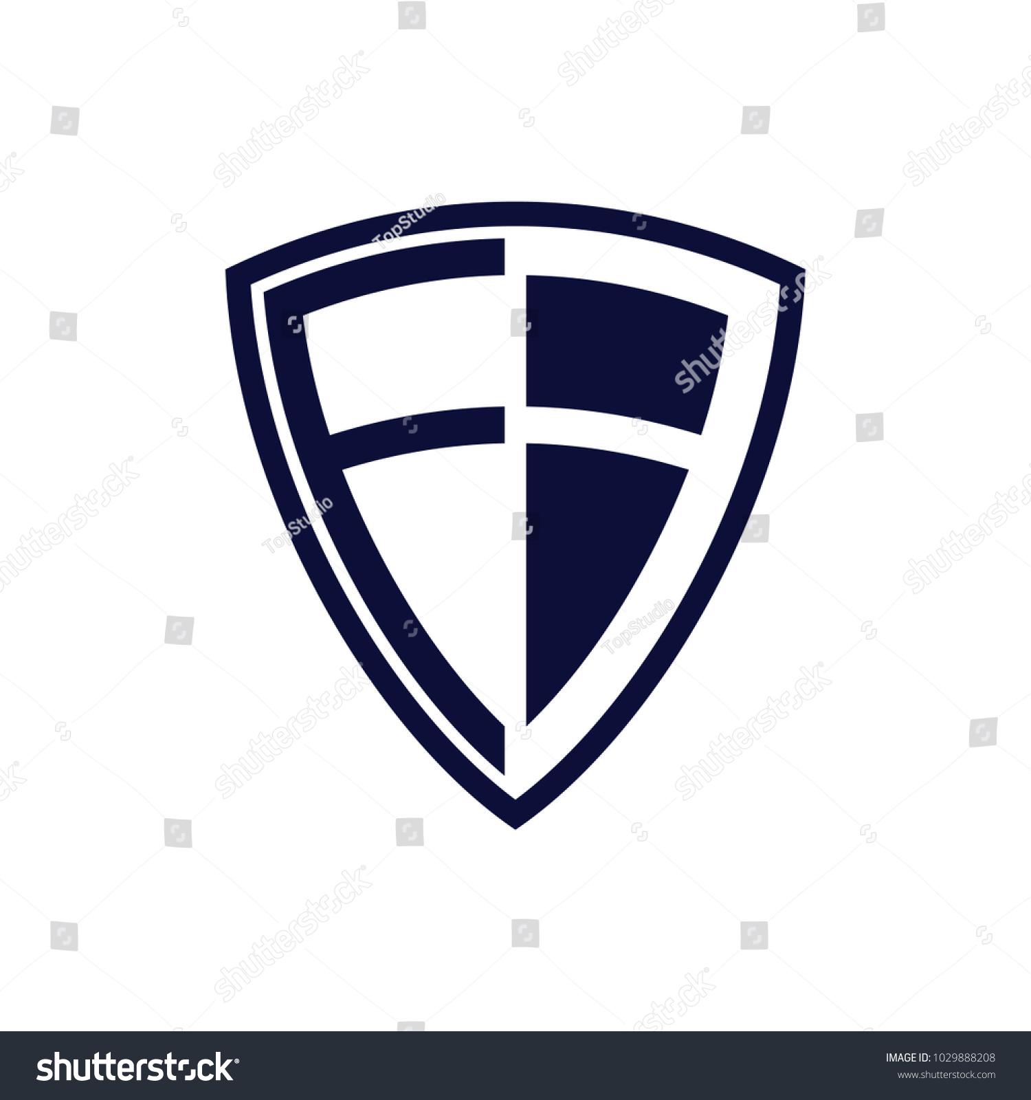 F B Logo Design Template Shield Stock Vector 1029888208 - Shutterstock