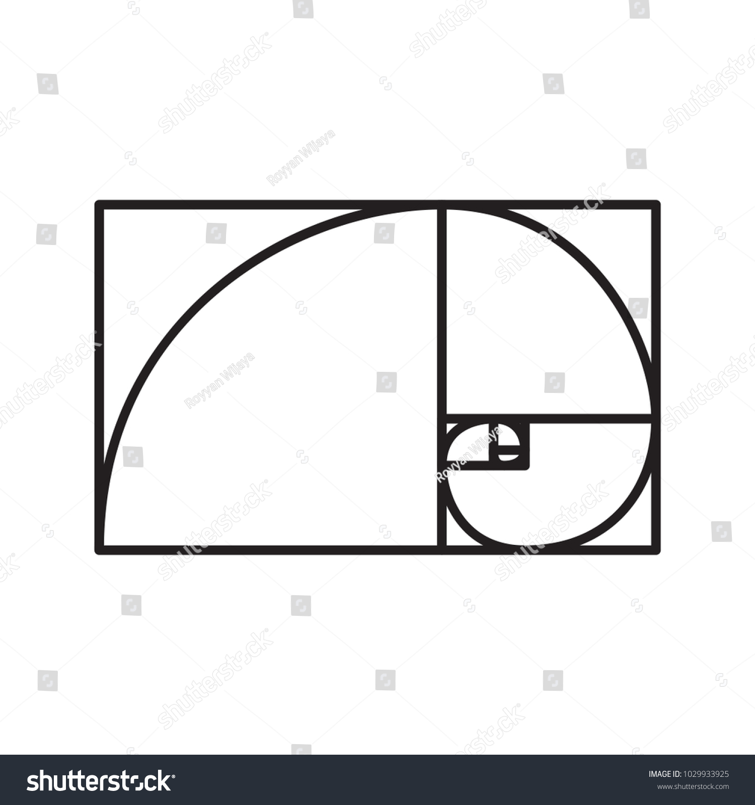 golden ratio icon vector isolated suitable stock vector 1029933925 rh shutterstock com golden ratio vector illustrator golden ratio vector circles