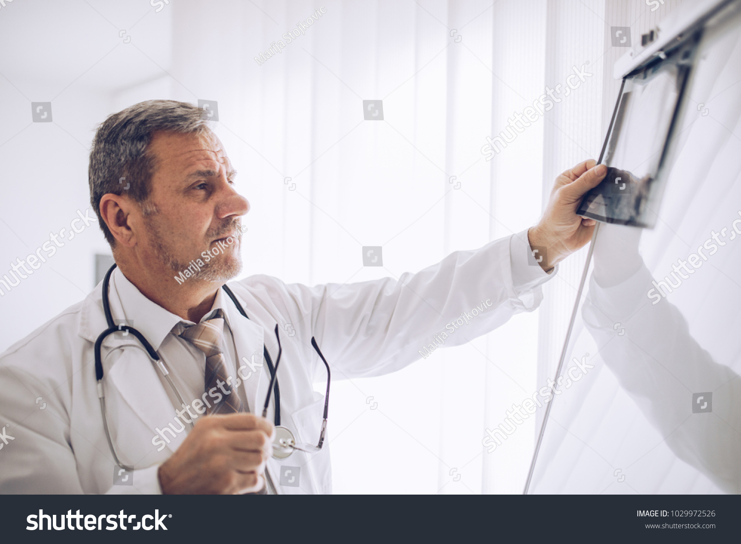 Radiologist Doctor Checking Xray Healthcare Medical Stock Photo