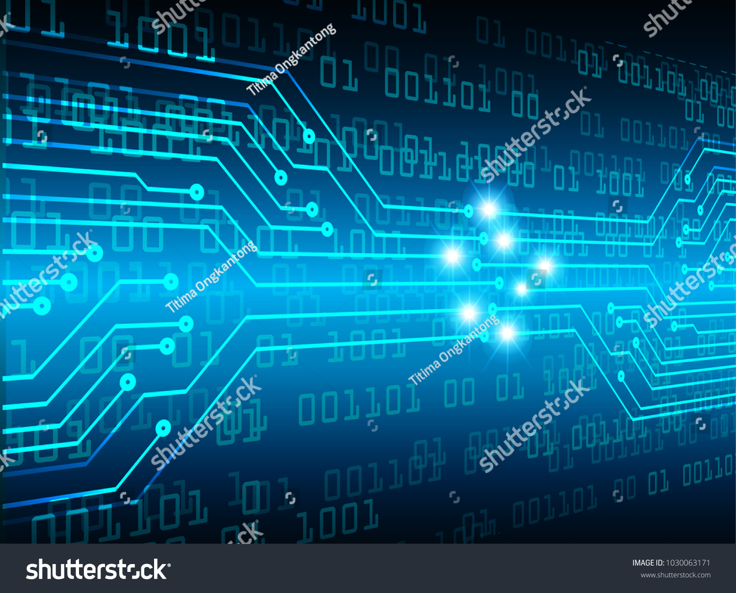 Binary Circuit Board Future Technology Blue Cyber Security Concept Abstact Background With And Code Stock Images Id 1030063171