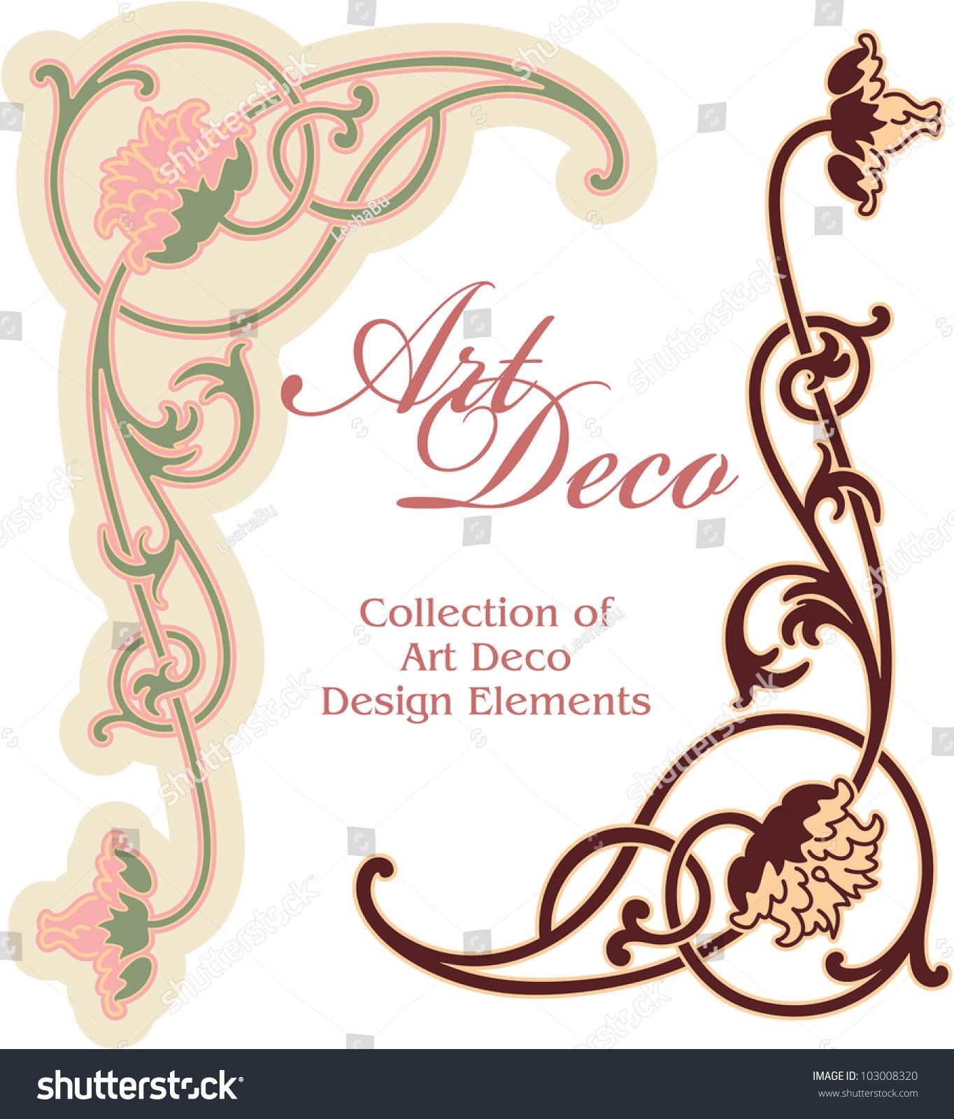 Art deco design element corner stock vector illustratie for Element deco design