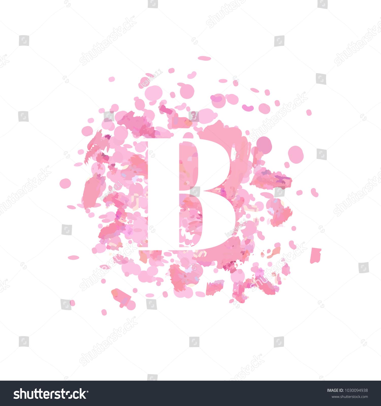 Abstract Letter B Logo Beauty Salon Stock Vector (Royalty Free ...