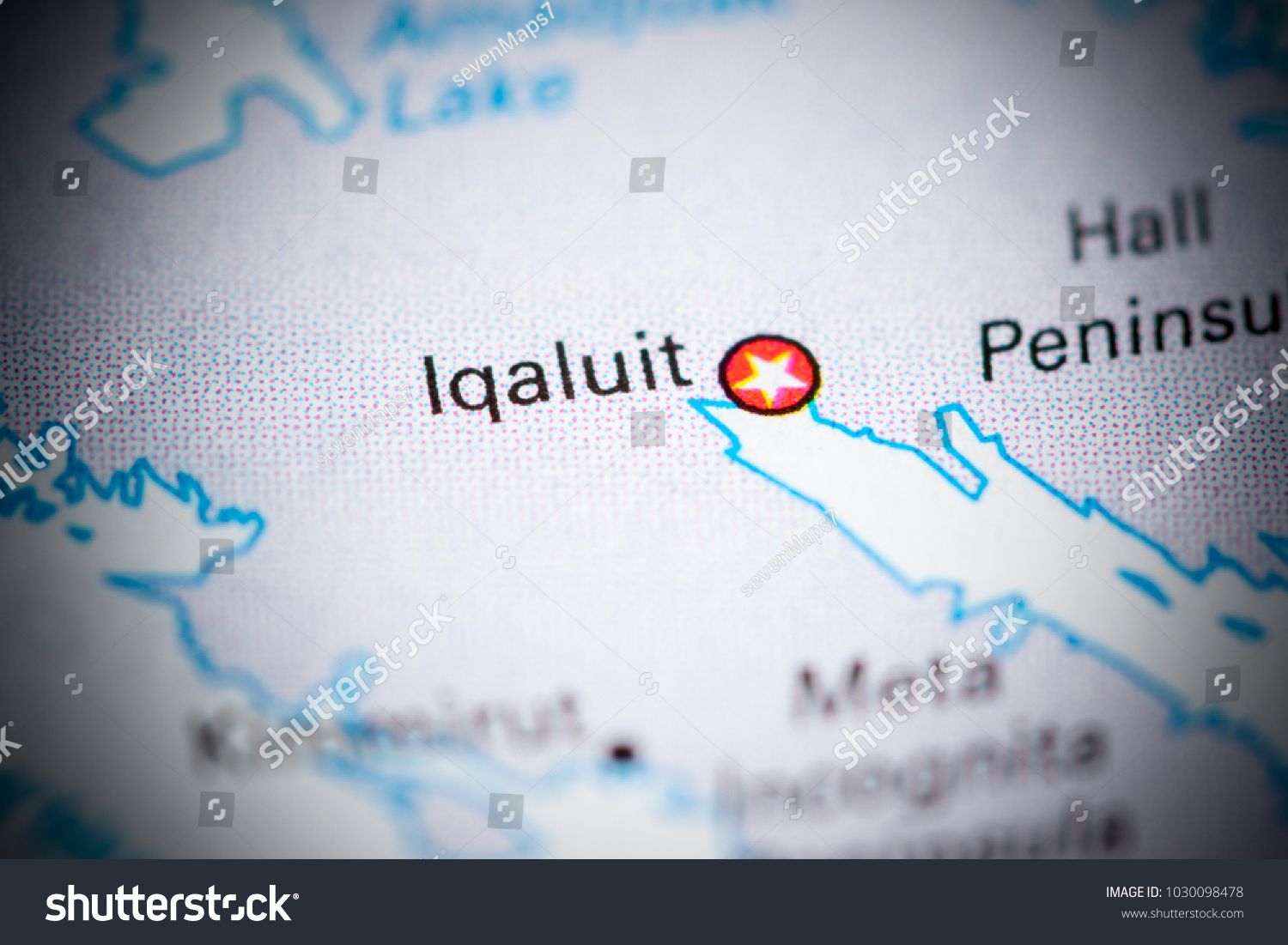 Iqaluit Canada Map.Iqaluit Canada On Map Stock Photo Edit Now 1030098478 Shutterstock