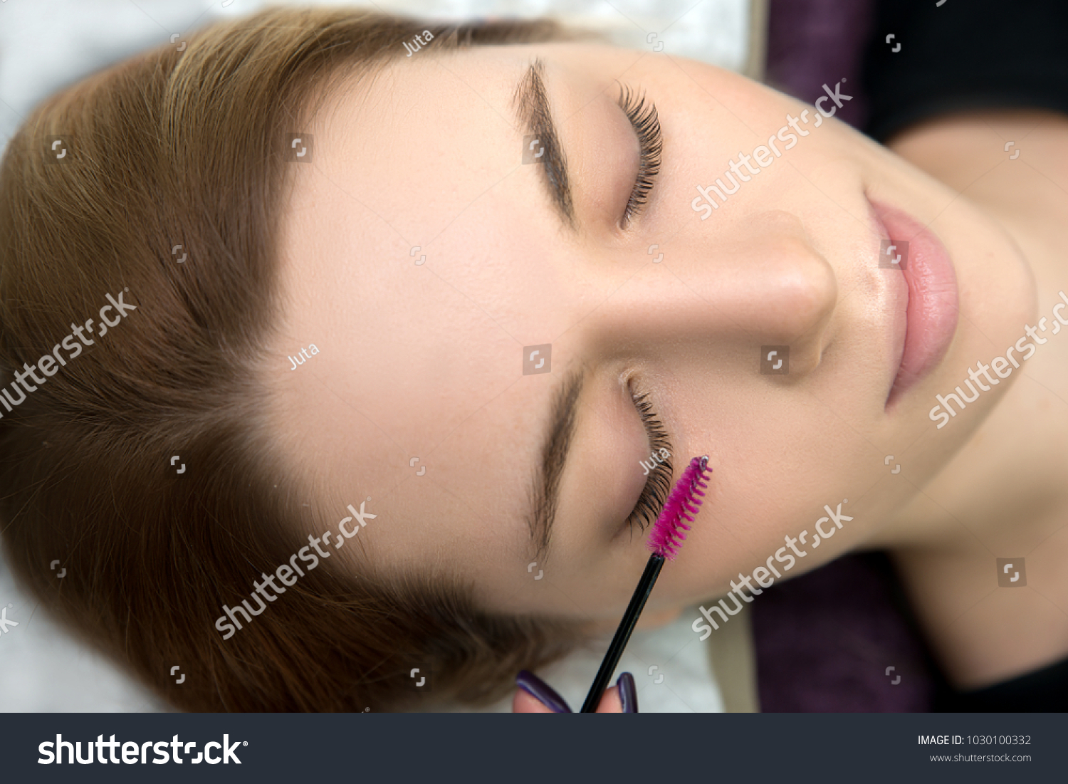Eyelash Care Treatment Procedures Staining Curling Stock Photo Edit