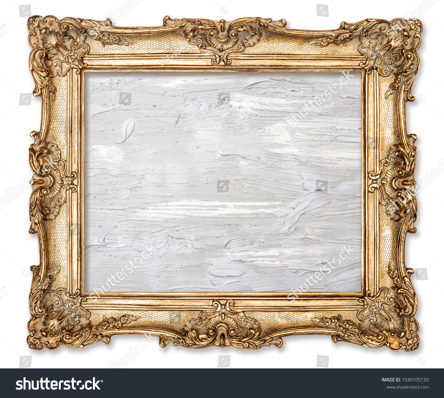 Golden Picture Frame Oil Painted Canvas Stock Photo (Edit Now ...