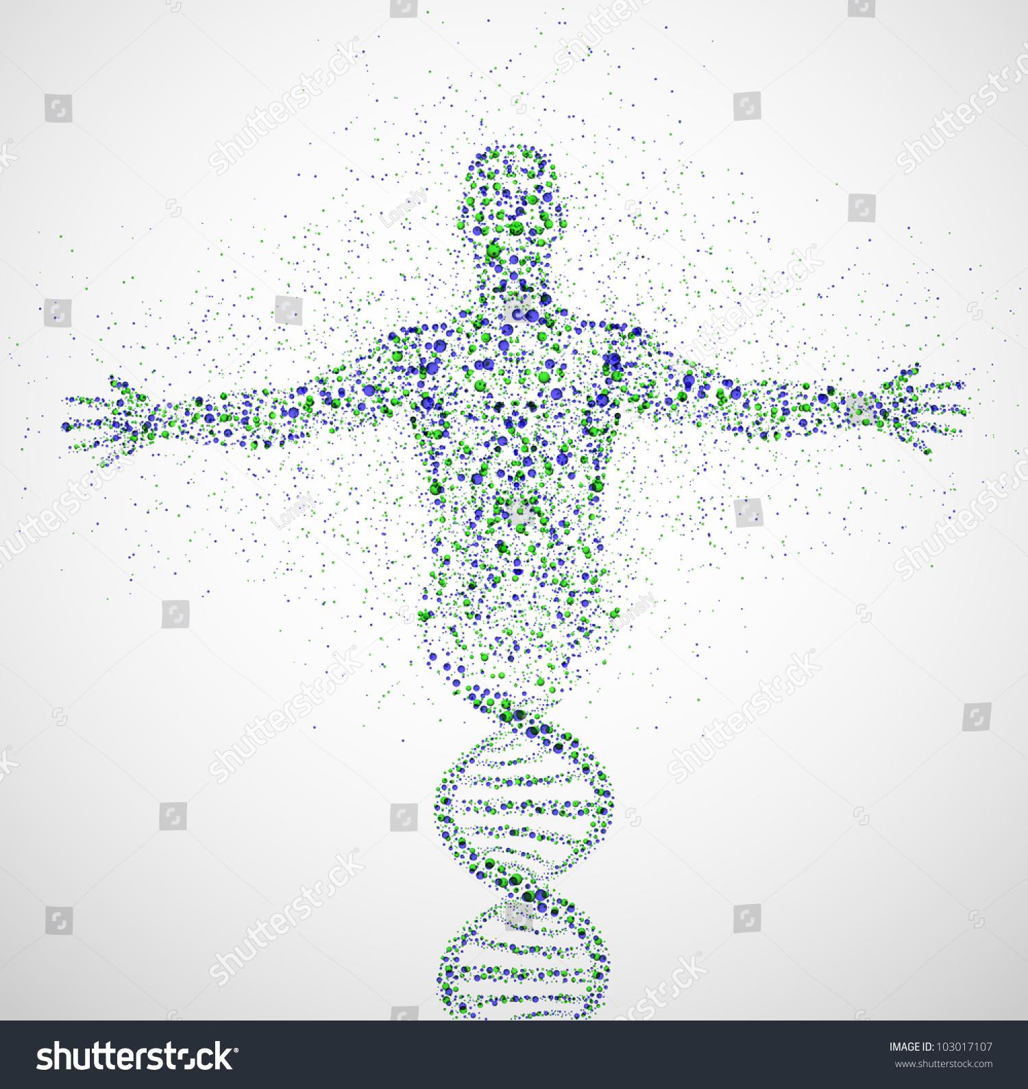 abstract model man dna molecule eps stock vector 103017107