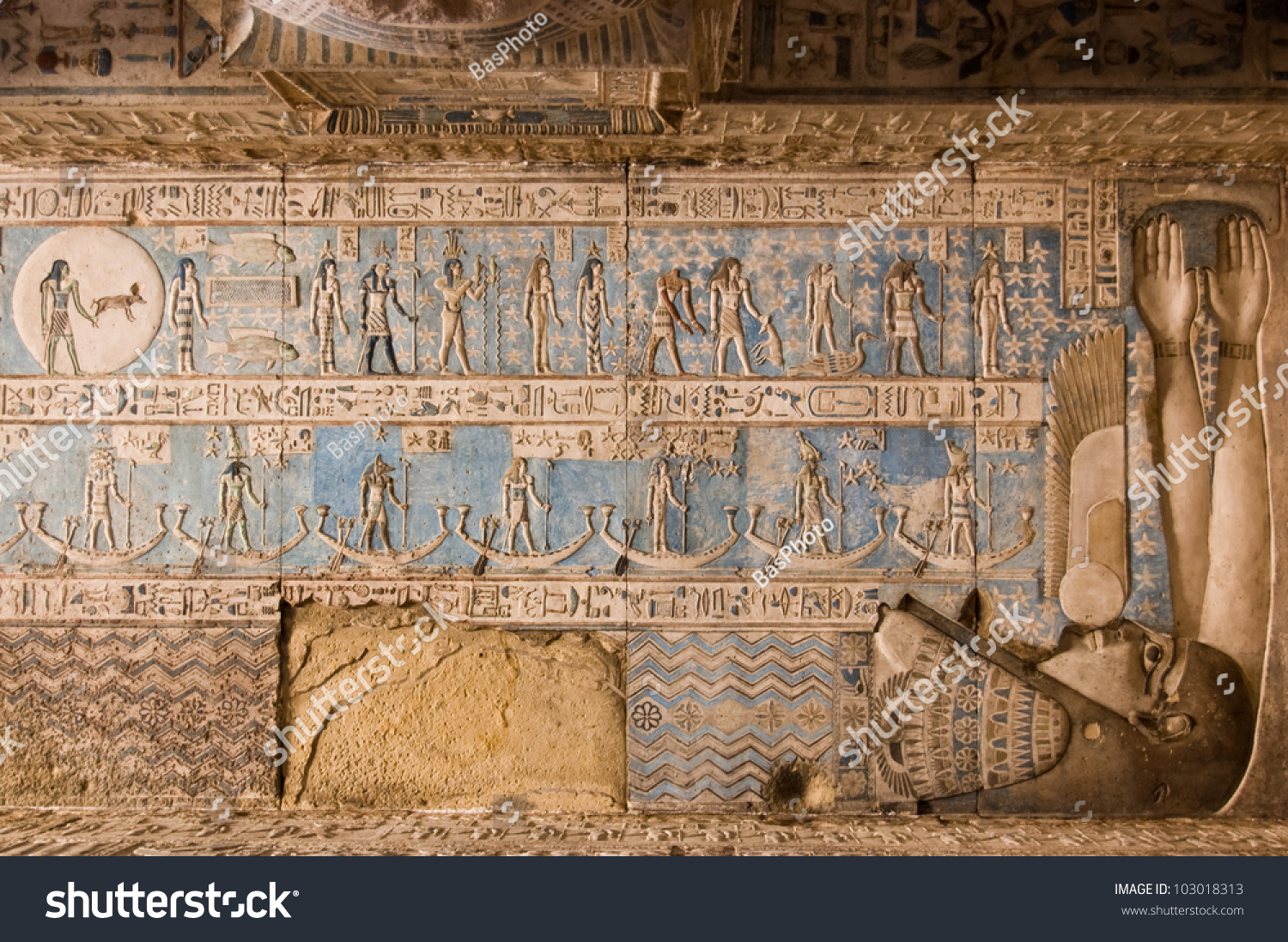 Astrological Symbols On Ceiling Dendera Temple Stock Photo Edit Now