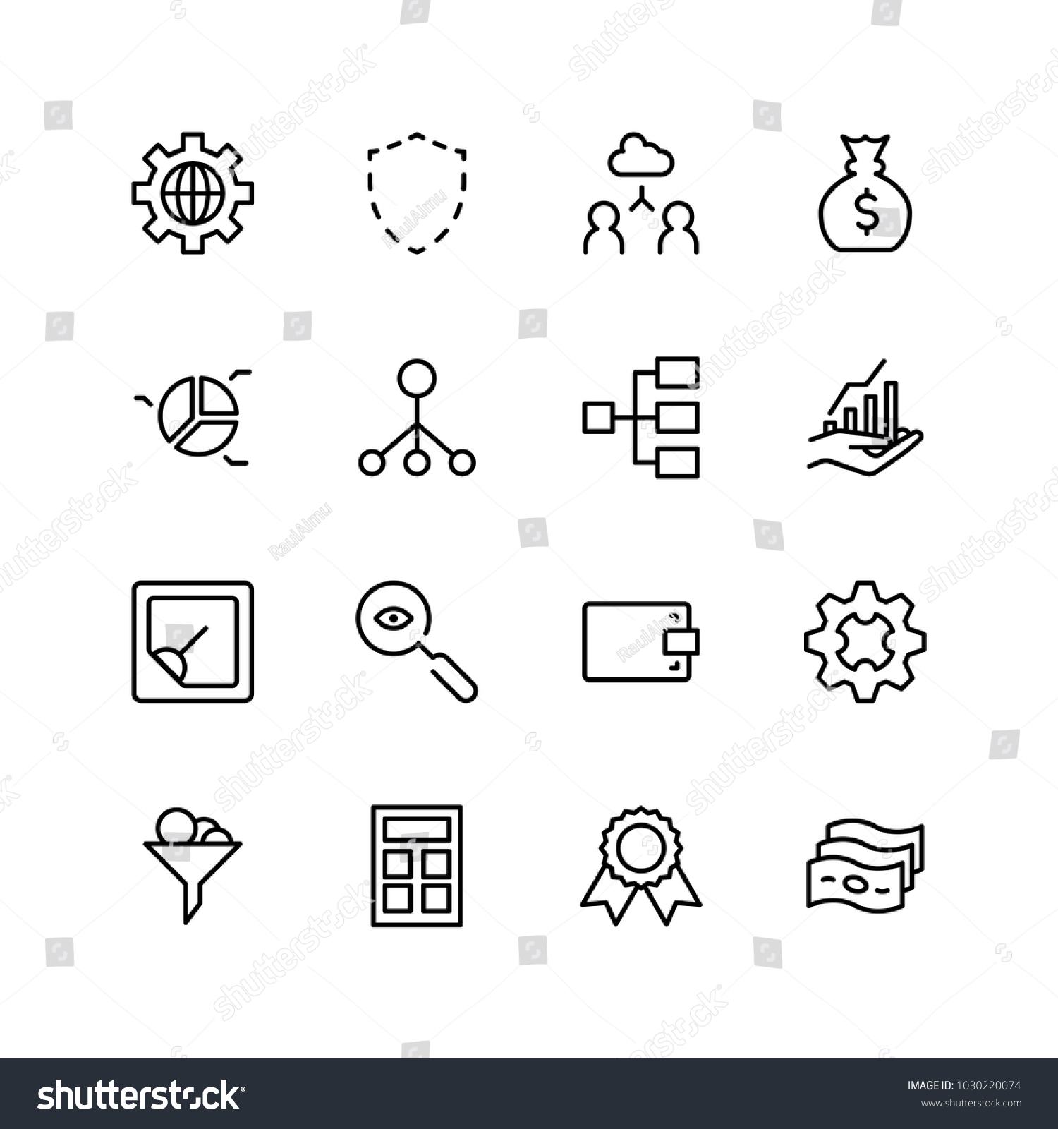 Trade Flat Icon Set Single High Stock Photo Photo Vector
