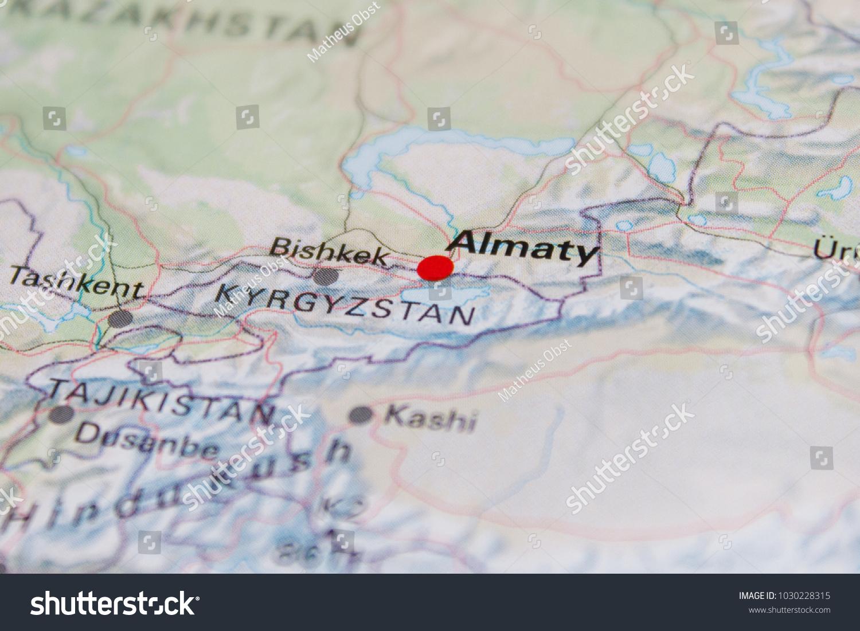 Almaty map map almaty kazakhstan 2017 stock photo download now 1030228315 gumiabroncs Images