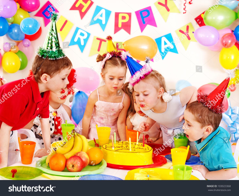 Children Happy Birthday Party Stock Photo 103023368
