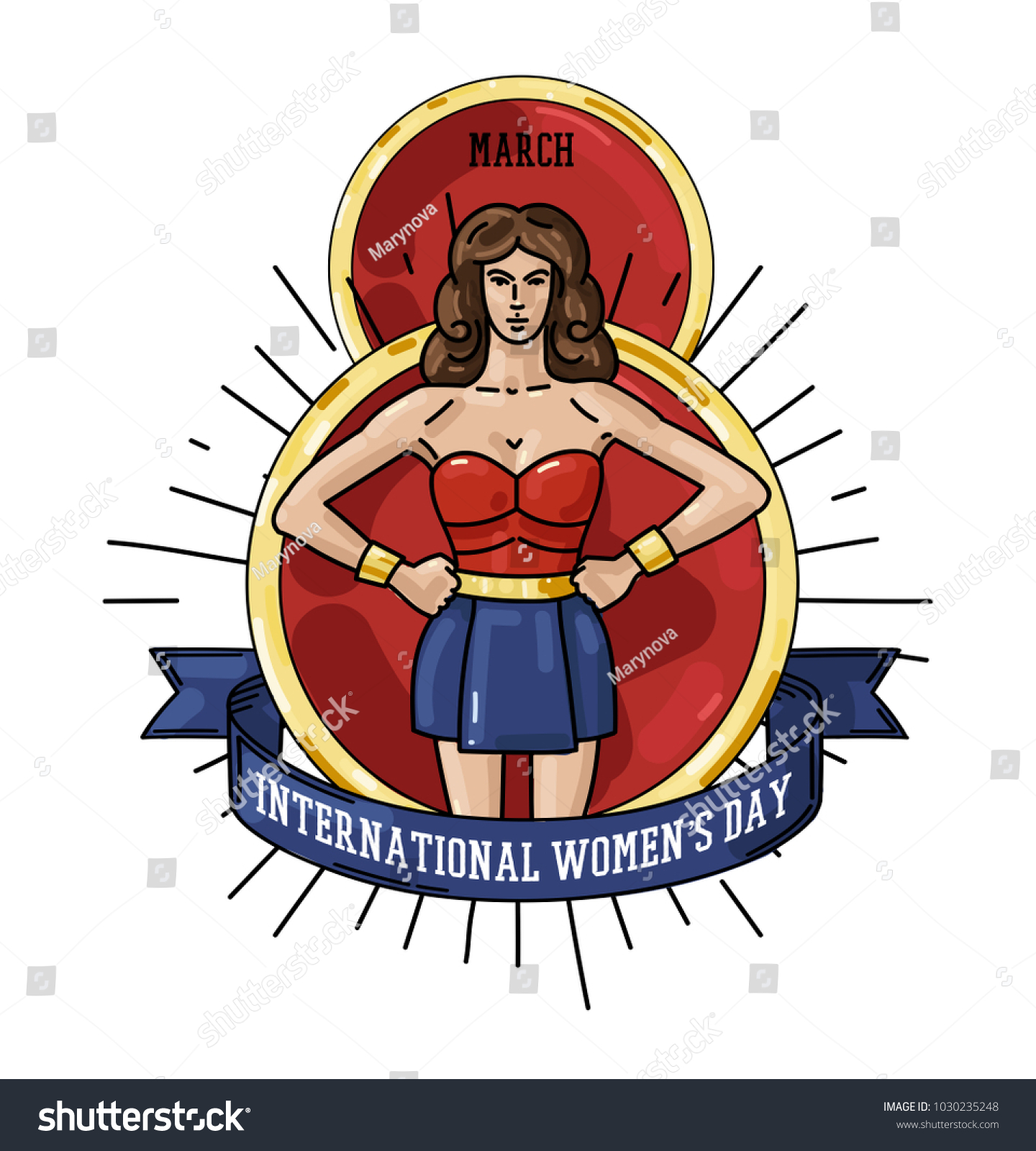 International womens day greeting card big stock vector 1030235248 international womens day greeting card with big 8 march date and strong woman warrior biocorpaavc