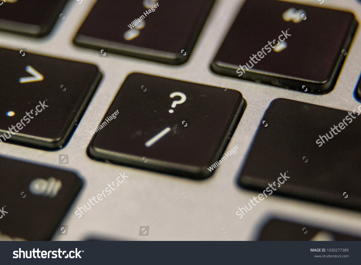Question Mark Slash Symbol Keyboard Key Stock Photo Royalty Free