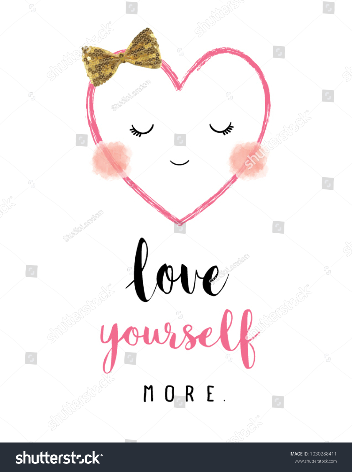 Heart face smiling character happy valentines stock vector happy valentines day sign symbollove greeting cardwhite buycottarizona
