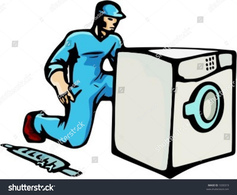 Technician Clip Art Washing Machine
