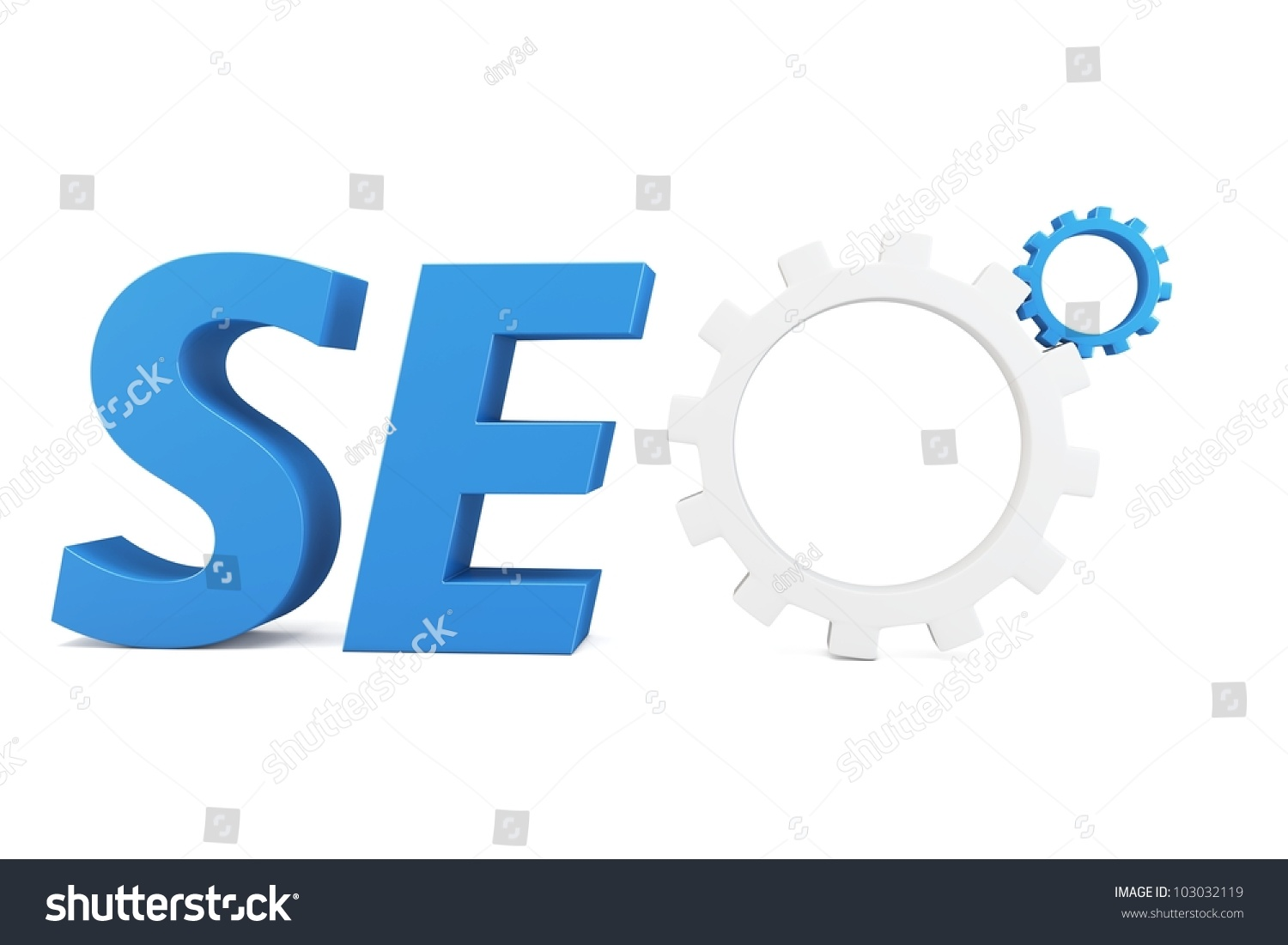 3d seo search engine gears on white background stock photo for 3d search engine
