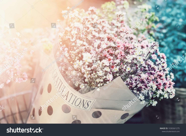 Close Daisy Flowers Bouquet Background Wedding Stock Photo Edit Now