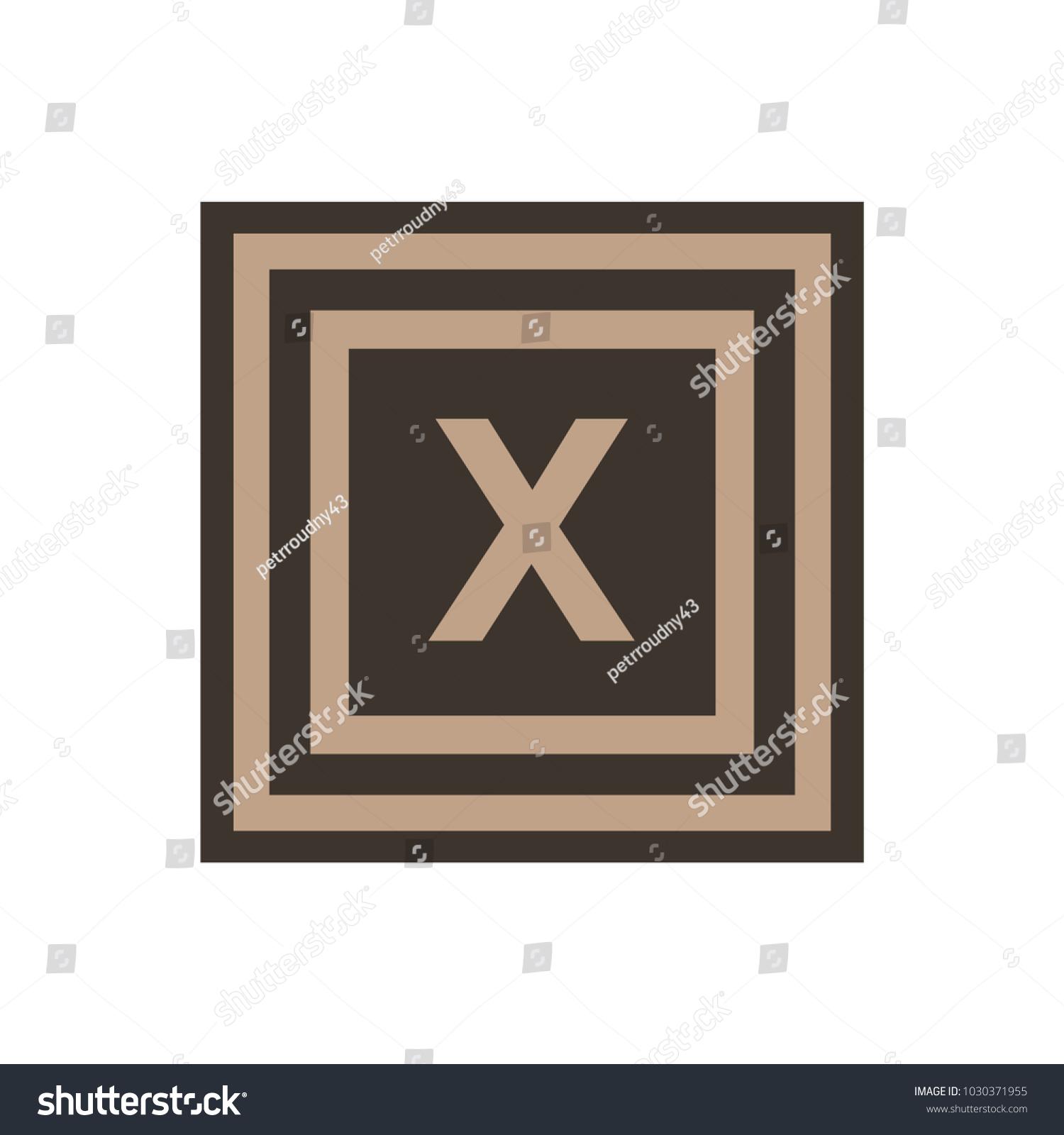 Vector Symbol Letter Chi Greek Alphabet Stock Vector 1030371955