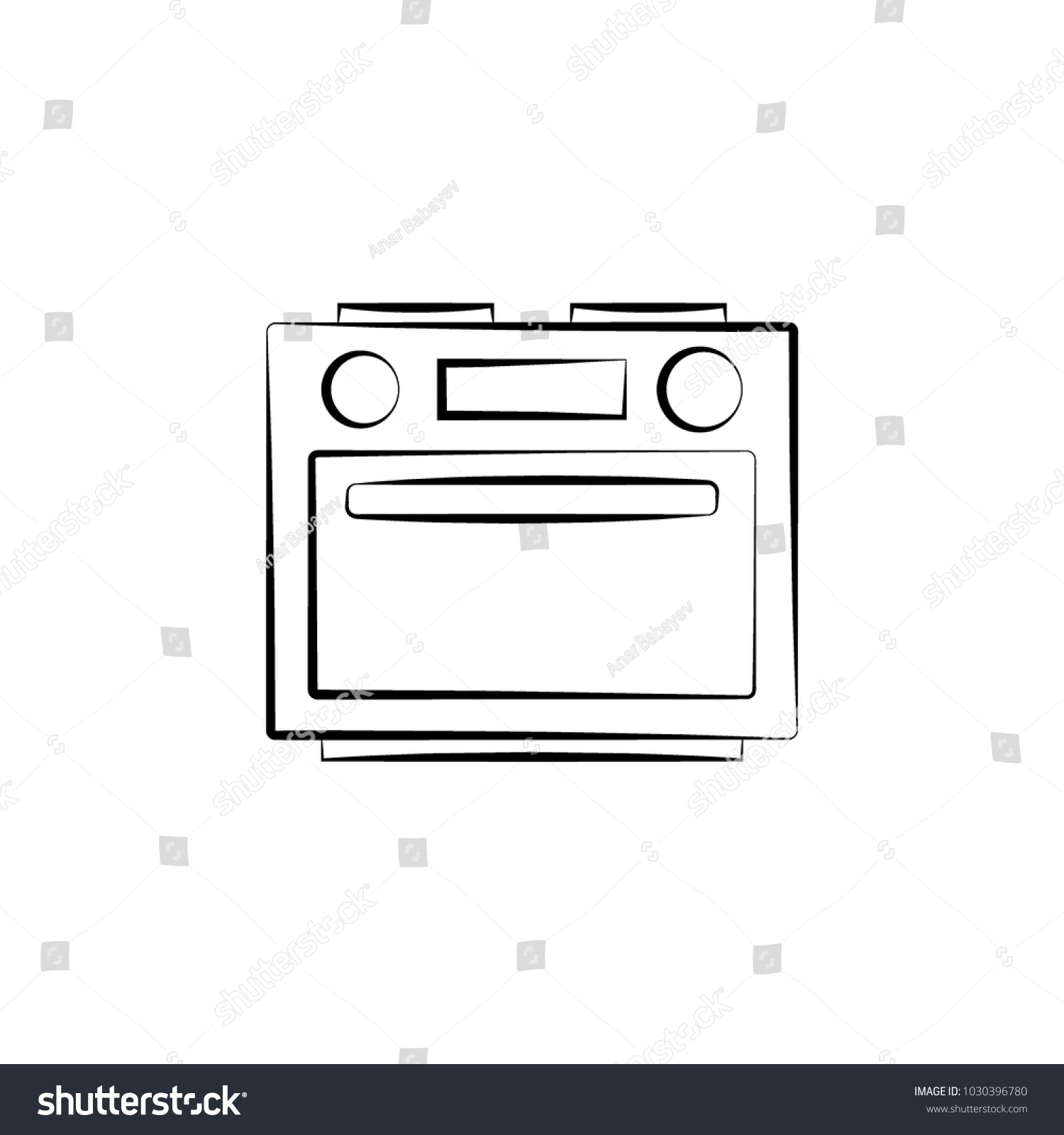 Oven Icon Element Electrical Devices Icon Stock Vector (Royalty Free
