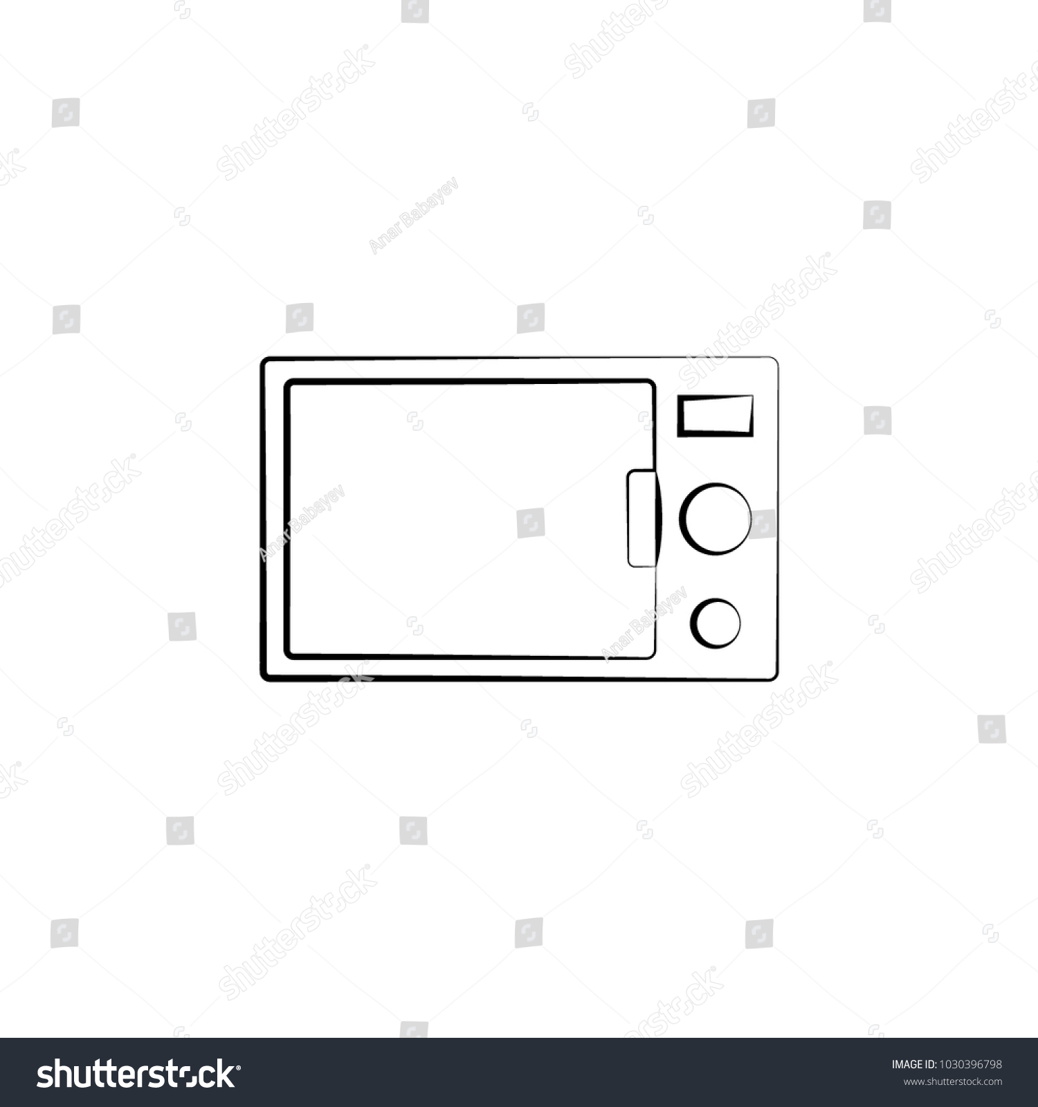 Microwave Oven Icon Element Electrical Devices Stock Vector ...