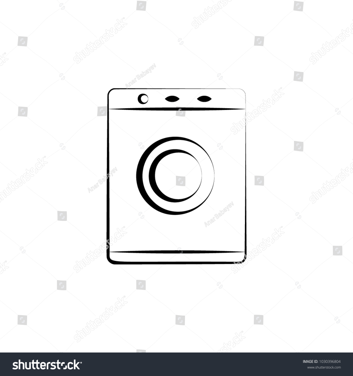 Washing machine icon element electrical devices stock vector element of electrical devices icon premium quality graphic design signs biocorpaavc Images