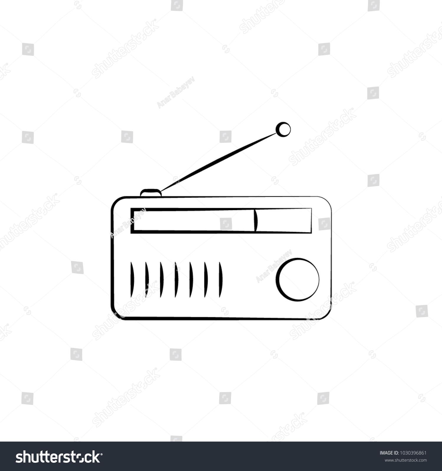 Radio Icon Element Electrical Devices Icon Stock Vector 1030396861