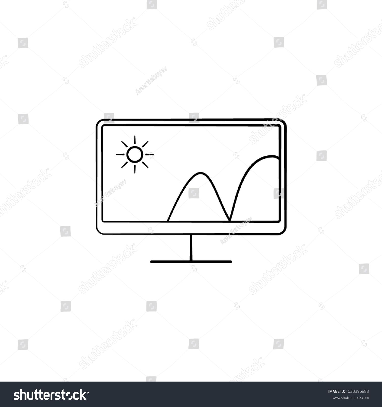 Monitor Icon Element Electrical Devices Icon Stock Vector 1030396888 ...