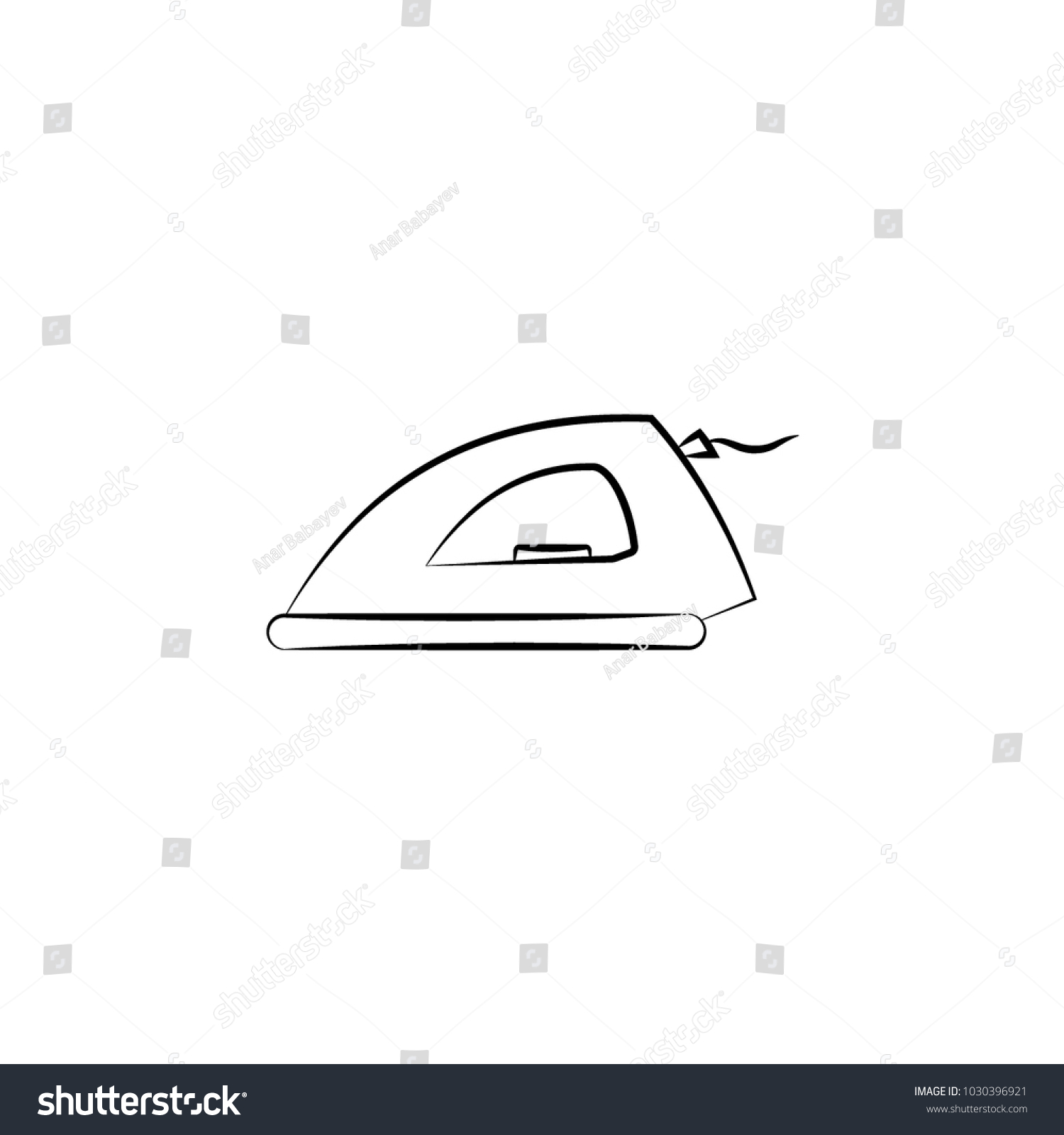 Iron icon element electrical devices icon stock vector 1030396921 element of electrical devices icon premium quality graphic design signs biocorpaavc Images