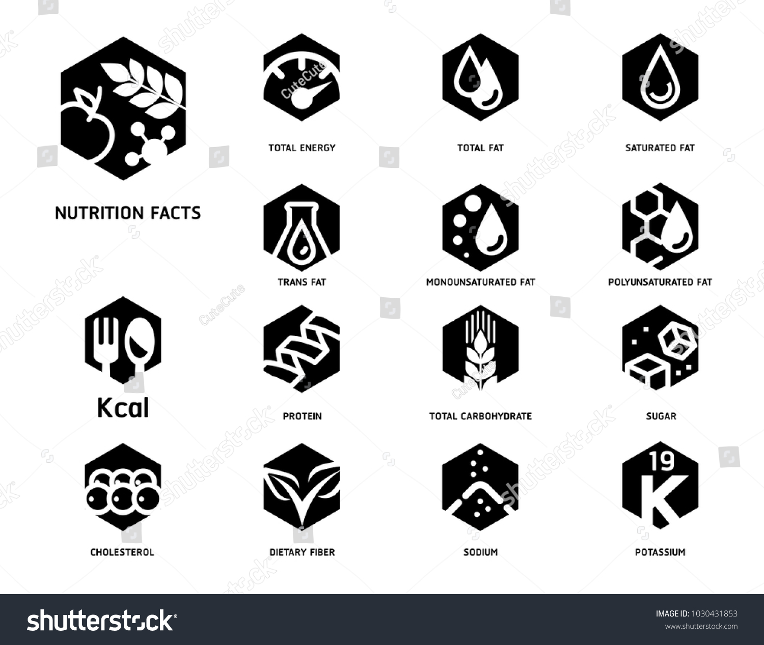 Nutrition facts food science laboratory hexagon stock vector nutrition facts with food science laboratory hexagon strong symbol concept style symbols of separation nutrients biocorpaavc Images