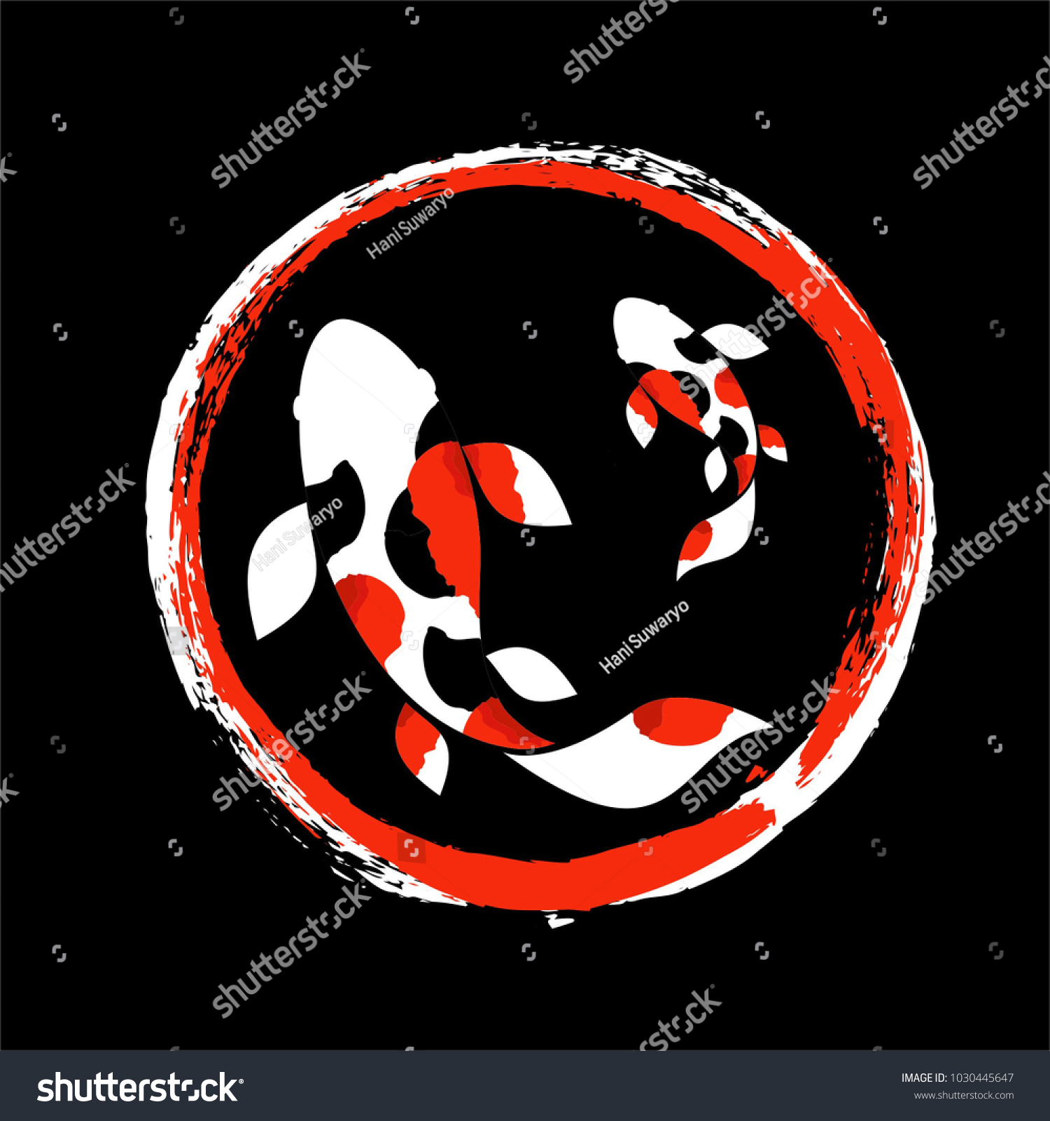 Koi Logo Japan Fish Japanese Symbol Stock Vector 1030445647 ...