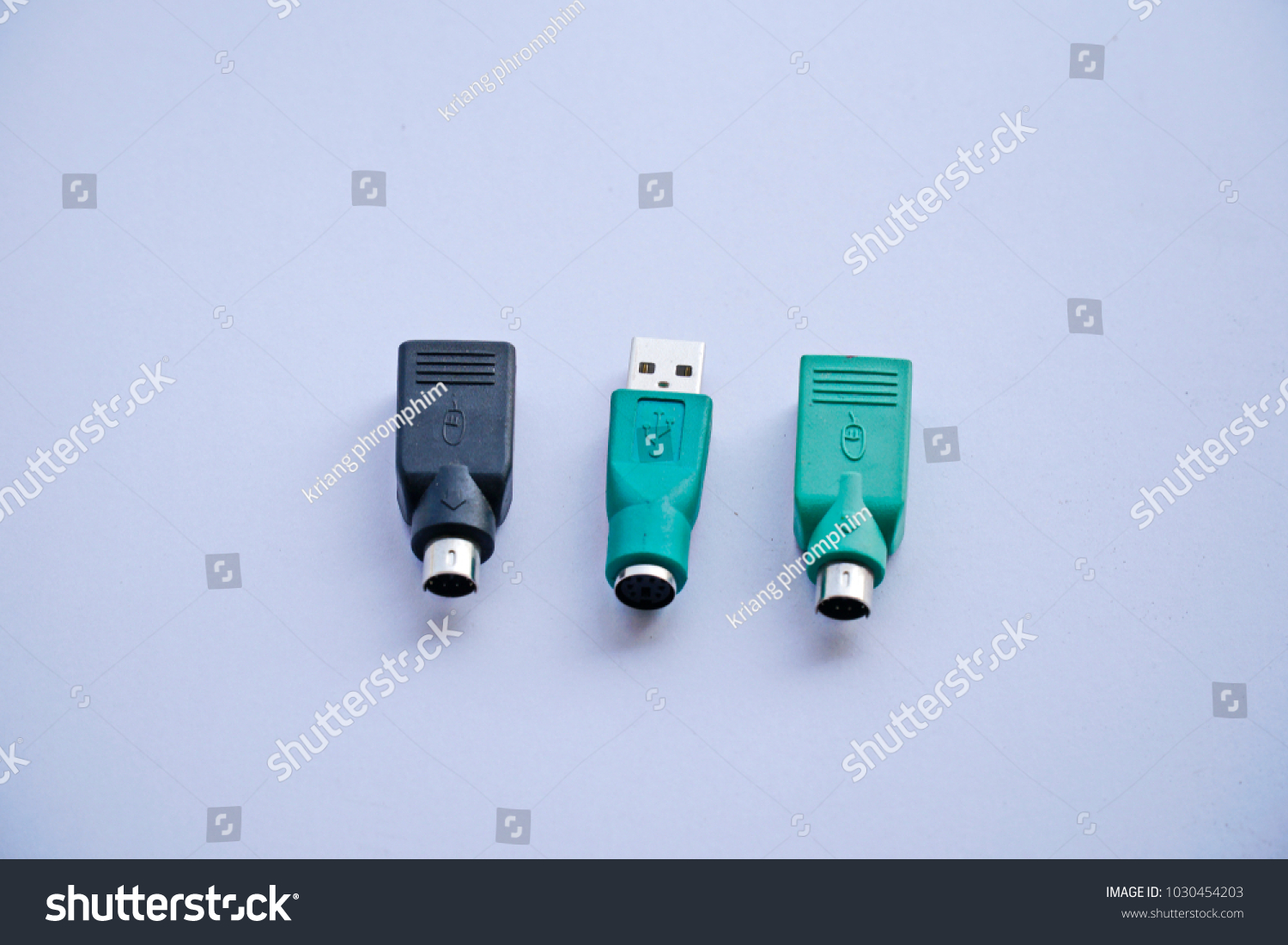 Ps 2 Usb Adapter Converter Mouse Keyboard Stock Photo Edit Now To Ps2 For