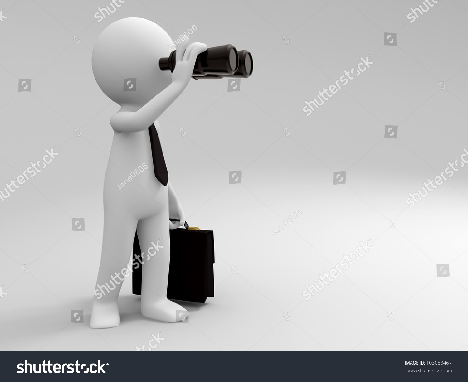Telescope/A 3d People Is Using The Telescope Stock Photo