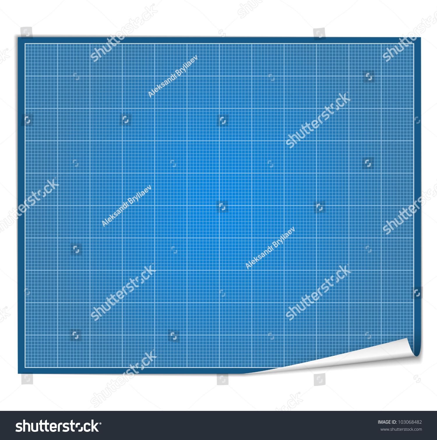 blank blueprint paper stock vector royalty free 103068482