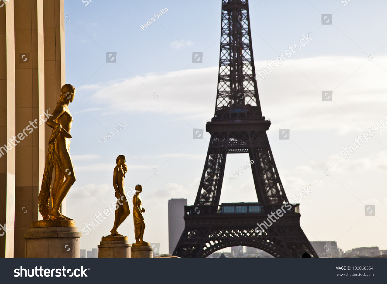 Best Place Paris Have Wonderful View Stock Photo 103068554 Shutterstock
