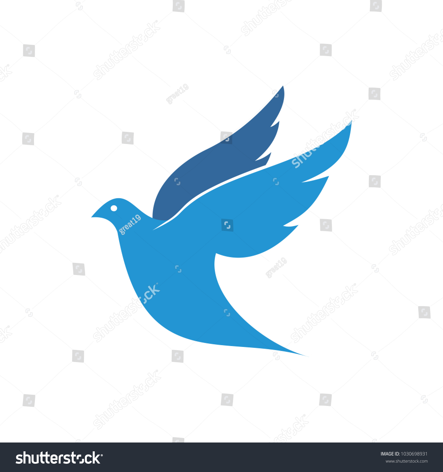 Flying Dove Pigeon Vector Logo Design Symbol Of Peace And Humanity