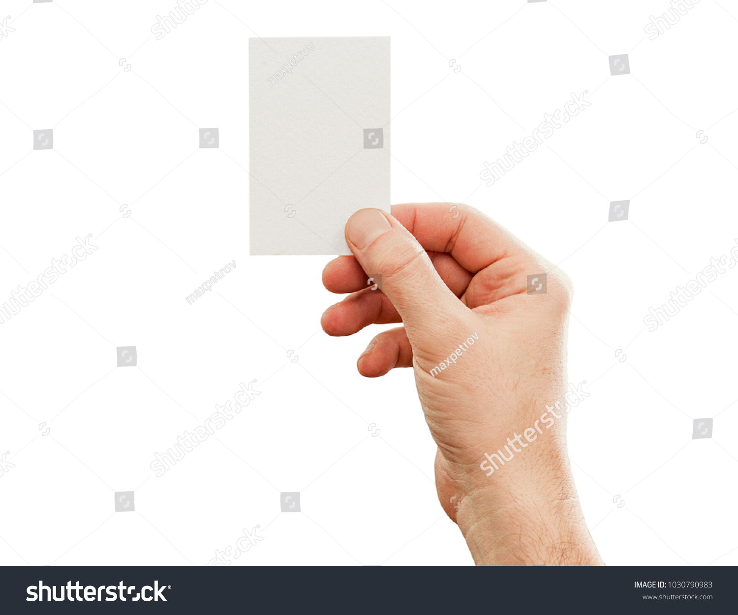 Male Hand Holding Business Card Mockup Stock Photo (Royalty Free ...