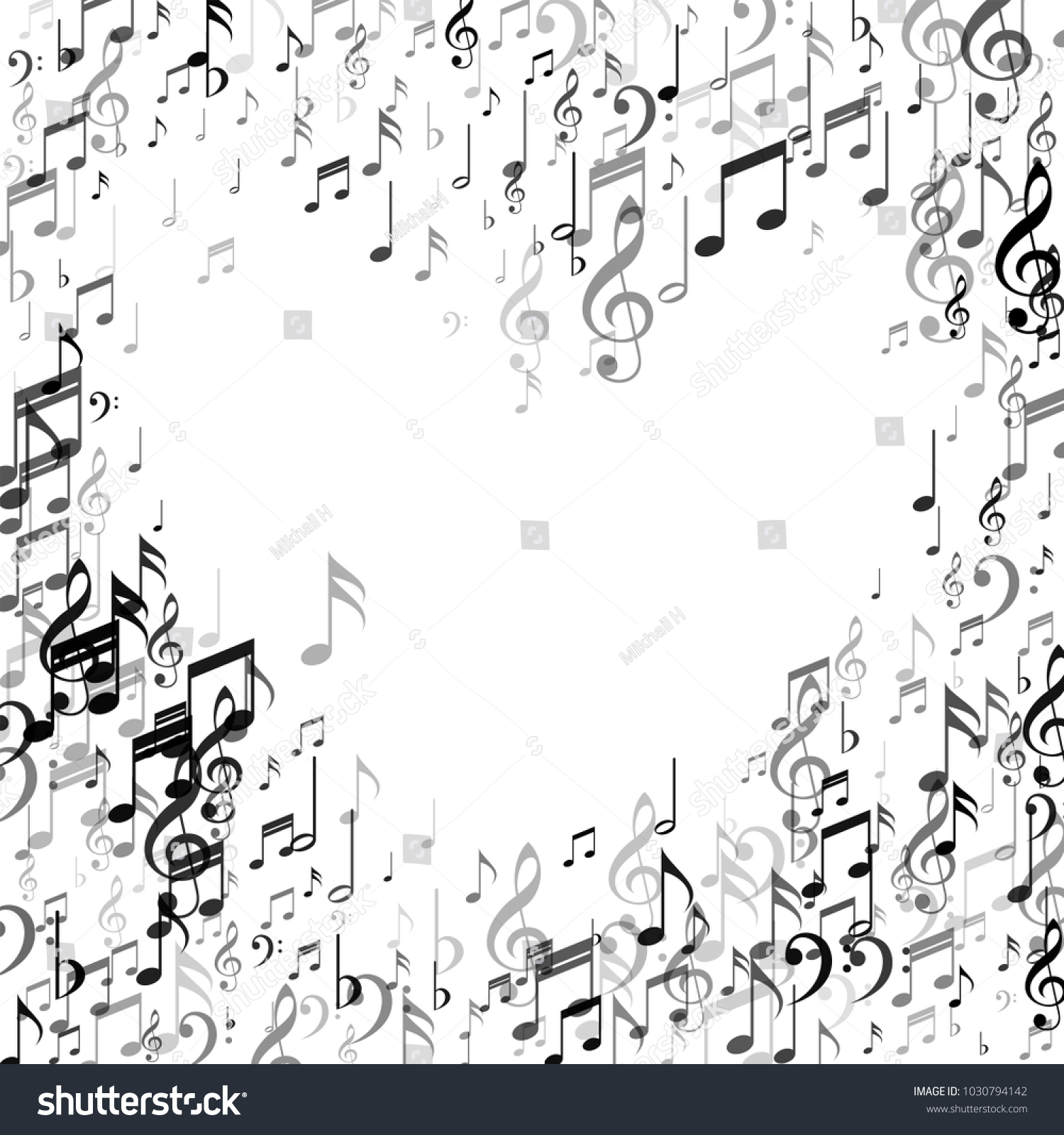 Heart Of Music Note Signs And Symbols Music Fashion Pattern Design