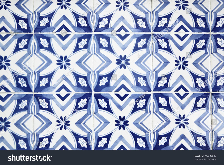 Portuguese tiles azulejos close up stock photo 103086539 shutterstock - Azulejos roman ...
