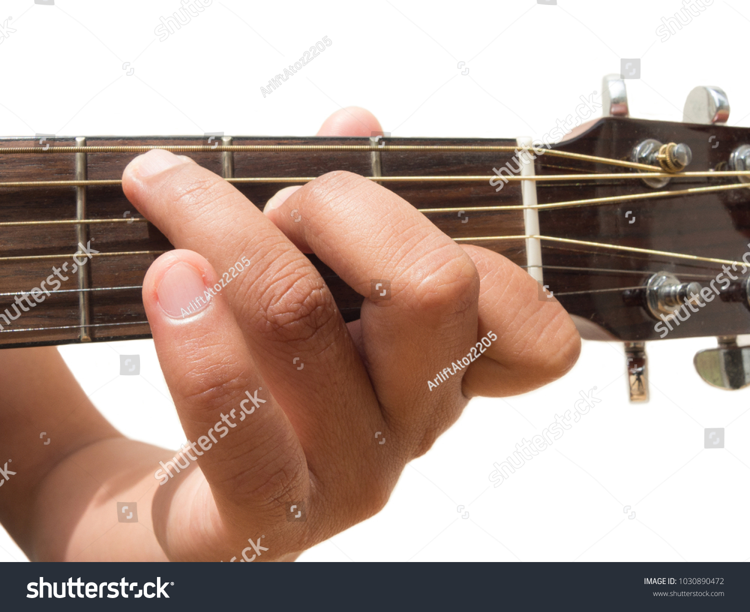 Left Hand Gesture Chord C Guitar Stock Photo Edit Now 1030890472