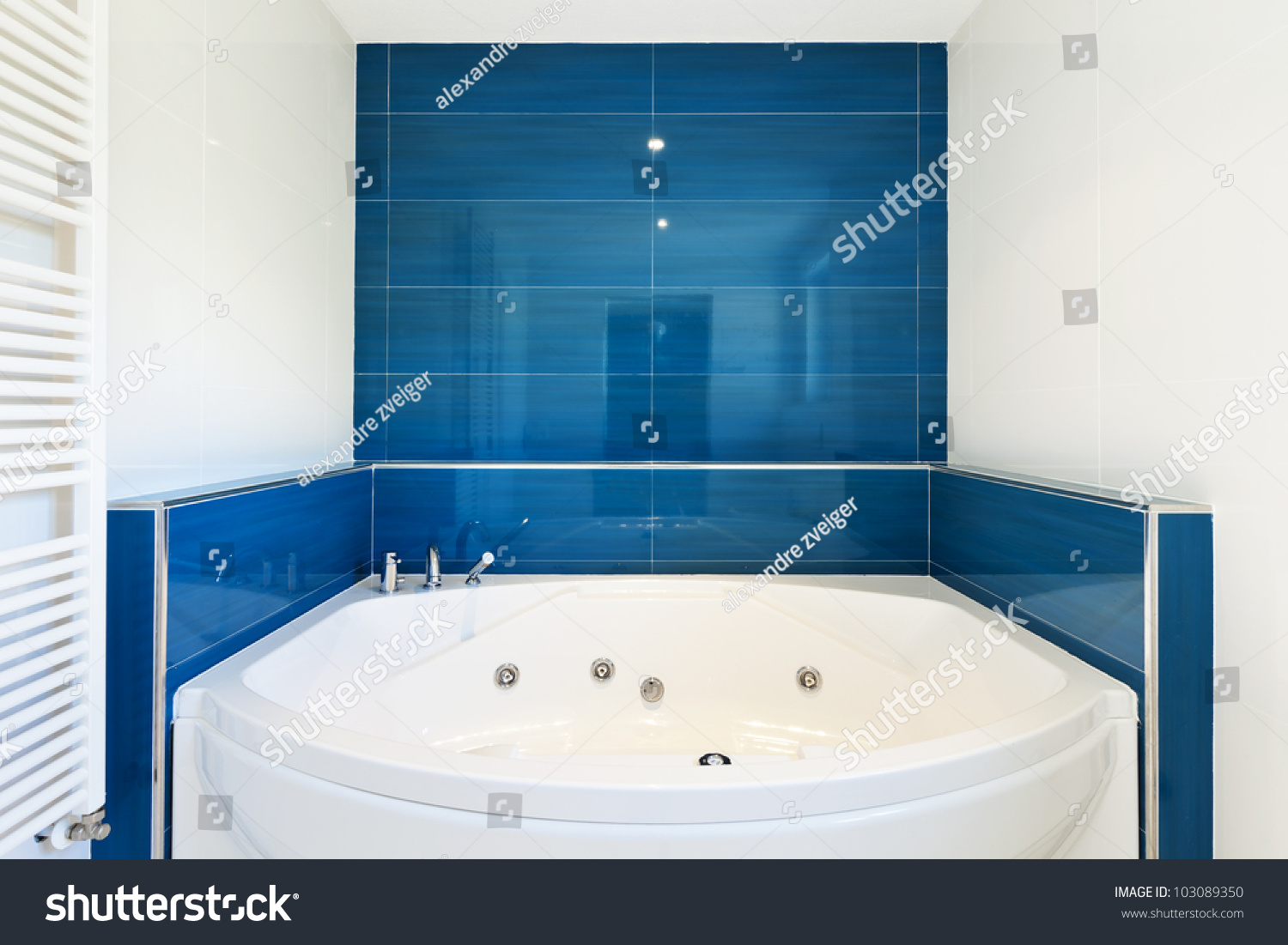 Interior Bathroom Modern House Hot Tub Stock Photo (Royalty Free ...