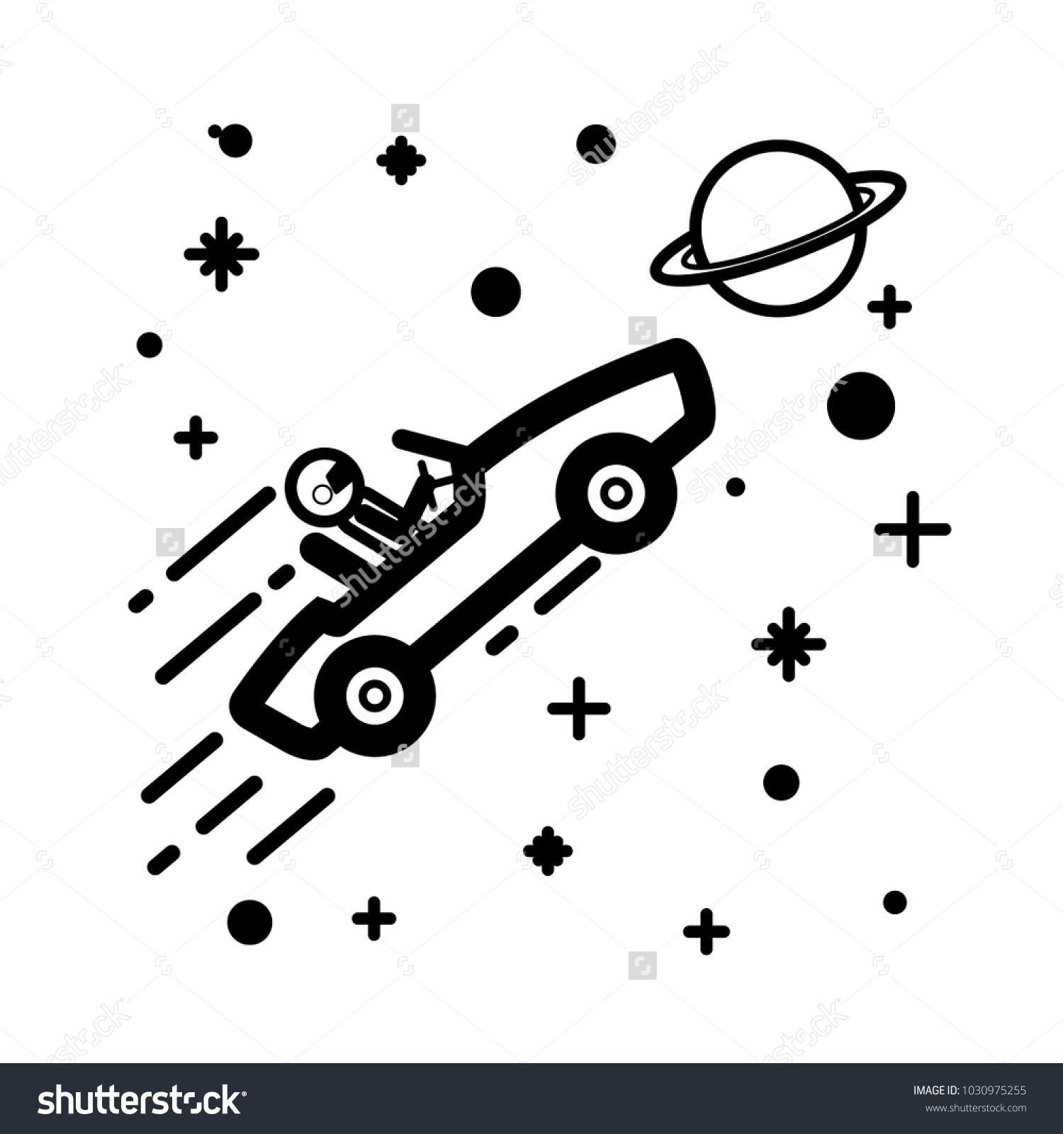 Space icon space tesla roadster image stock vector 1030975255 space icon with space tesla roadster image buycottarizona Gallery