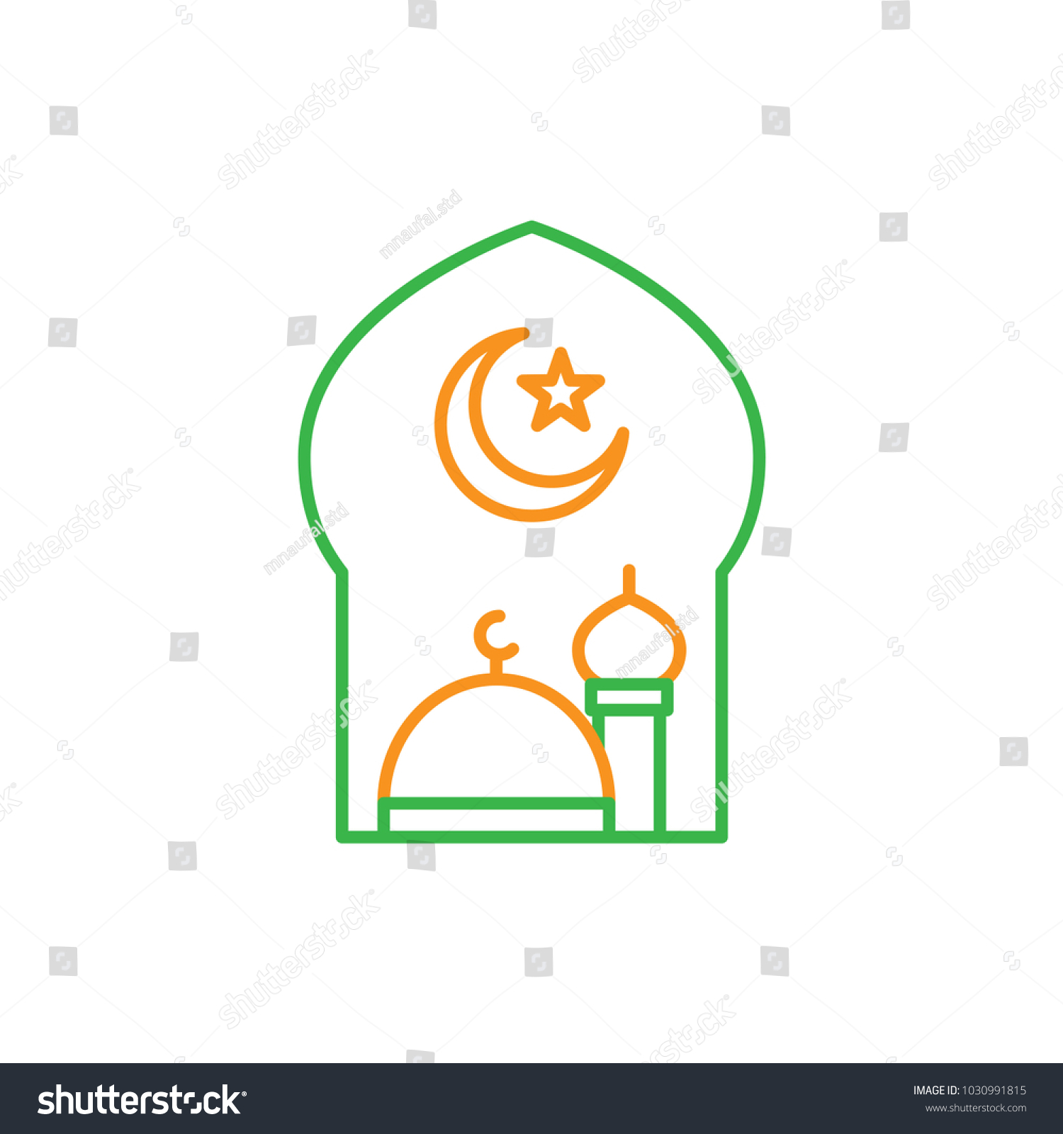 Muslim symbol moon and star gallery symbol and sign ideas great mosque crescent moon star islam stock vector 1030991815 great mosque with crescent moon and star buycottarizona Gallery