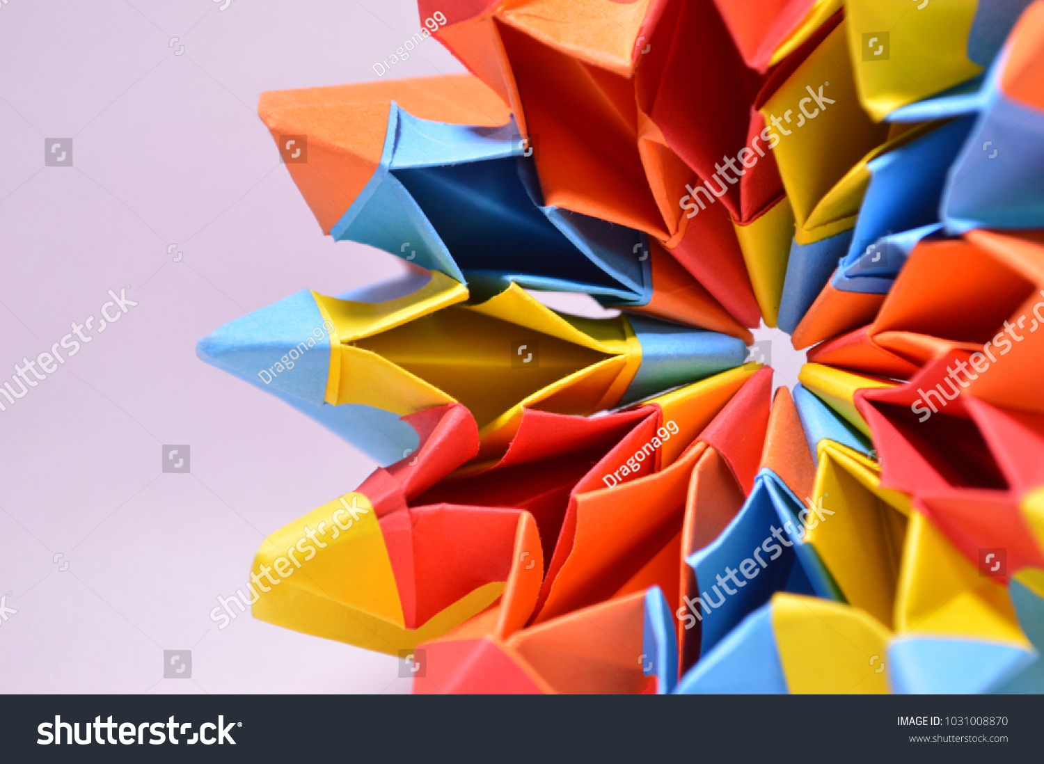 Bright Colored Paper Origami Firework Colorful Stock Photo Edit Now Fireworks Diagram Background Close Up Detail