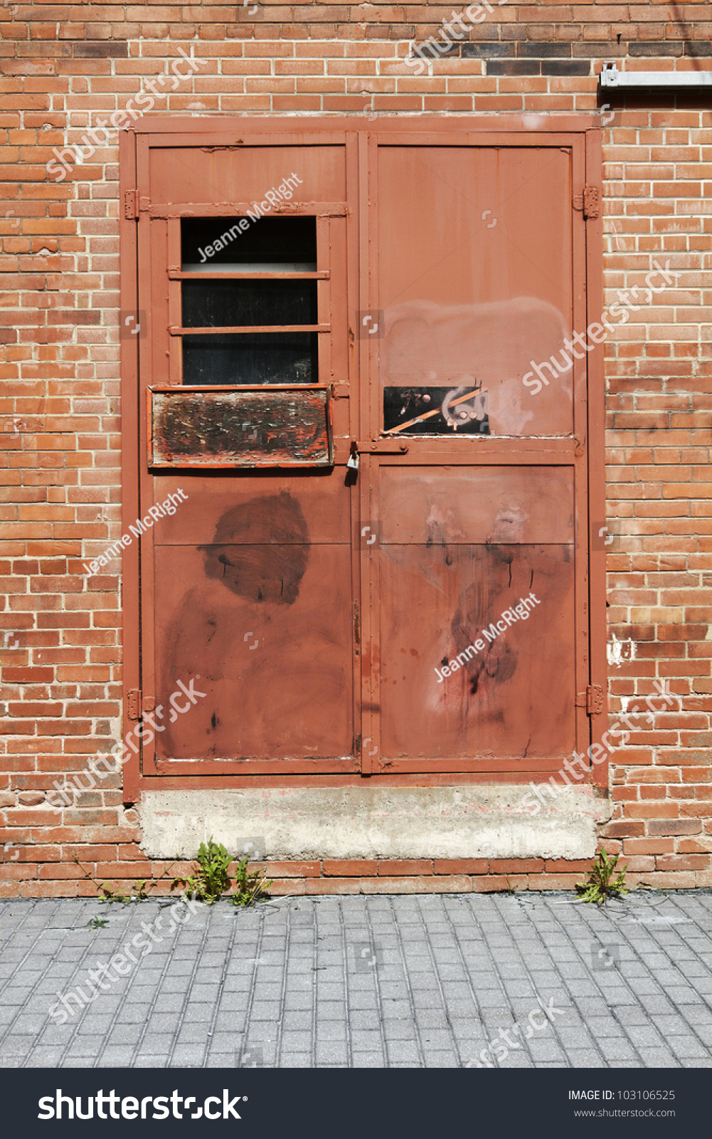 Weathered Faded Salmon Pink Painted Metal Stock Photo 103106525 Shutterstock