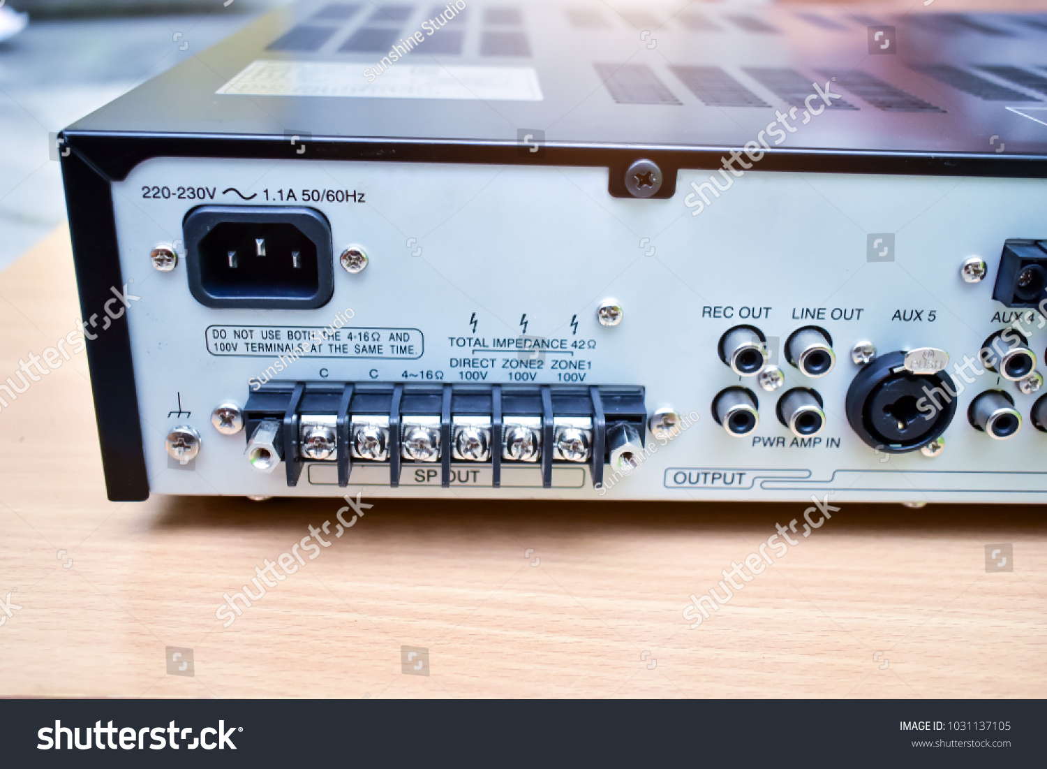 Audio Circuit Connection System Amplifier After Stock Photo Edit Wireless Microphone Audiocircuit Of Cleaning At Officeconcept Repairing Technology Equipment