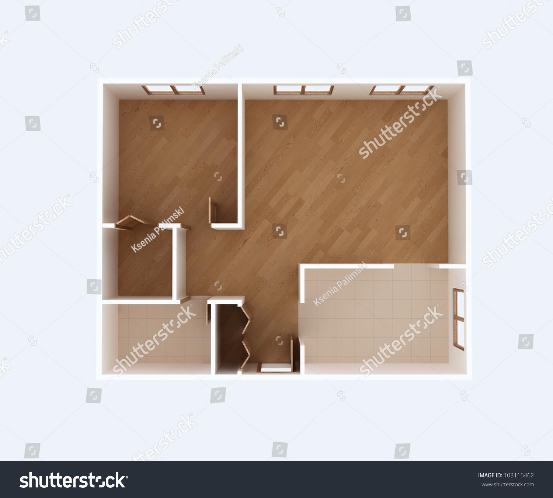 Empty house floor plan 3d top stock illustration 103115462 House plan 3d view