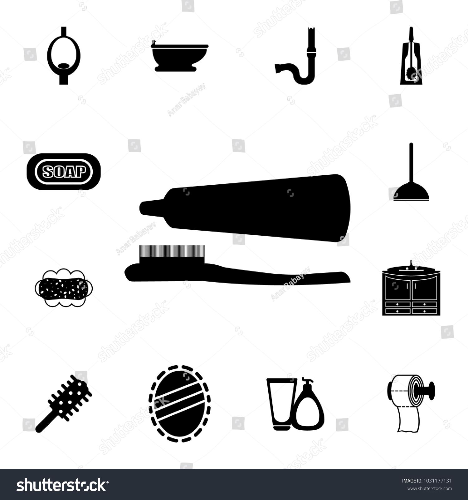 Bathroom Accessories Icon Element Bathroom Set Stock Vector (Royalty ...