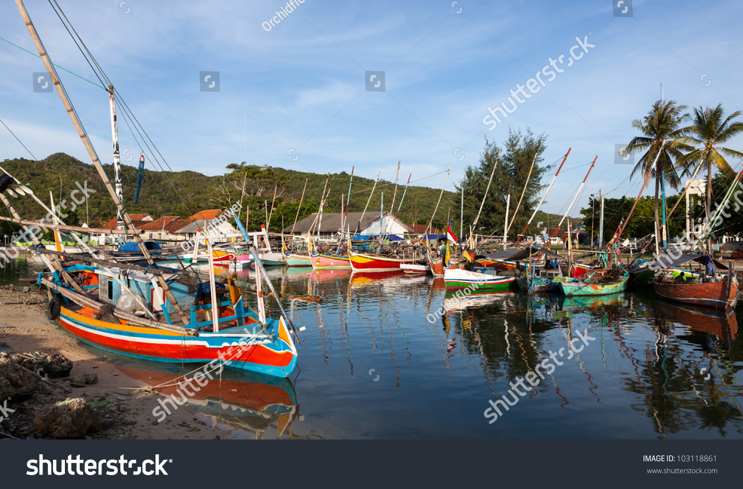 Karimunjawa Indonesia  city pictures gallery : Karimunjawa Indonesia Fishing Village Stock Photo 103118861 ...