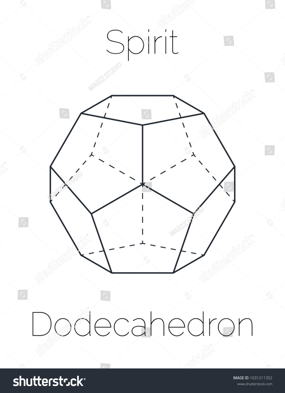 Dodecahedron Platonic Solid Stock Vector Royalty Free 1031211352
