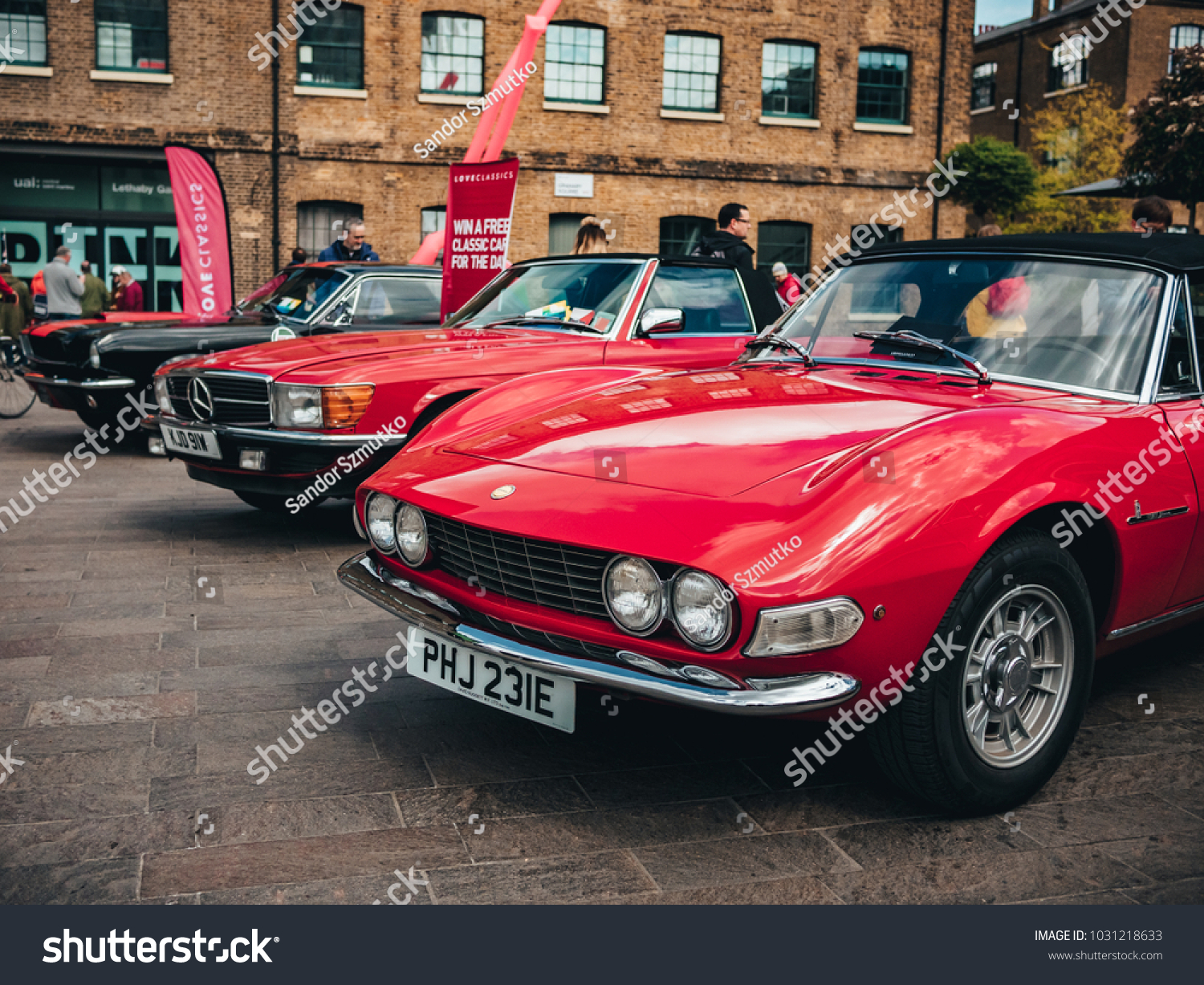 London UK 22042017 Old Classic Cars Stock Photo (Royalty Free ...