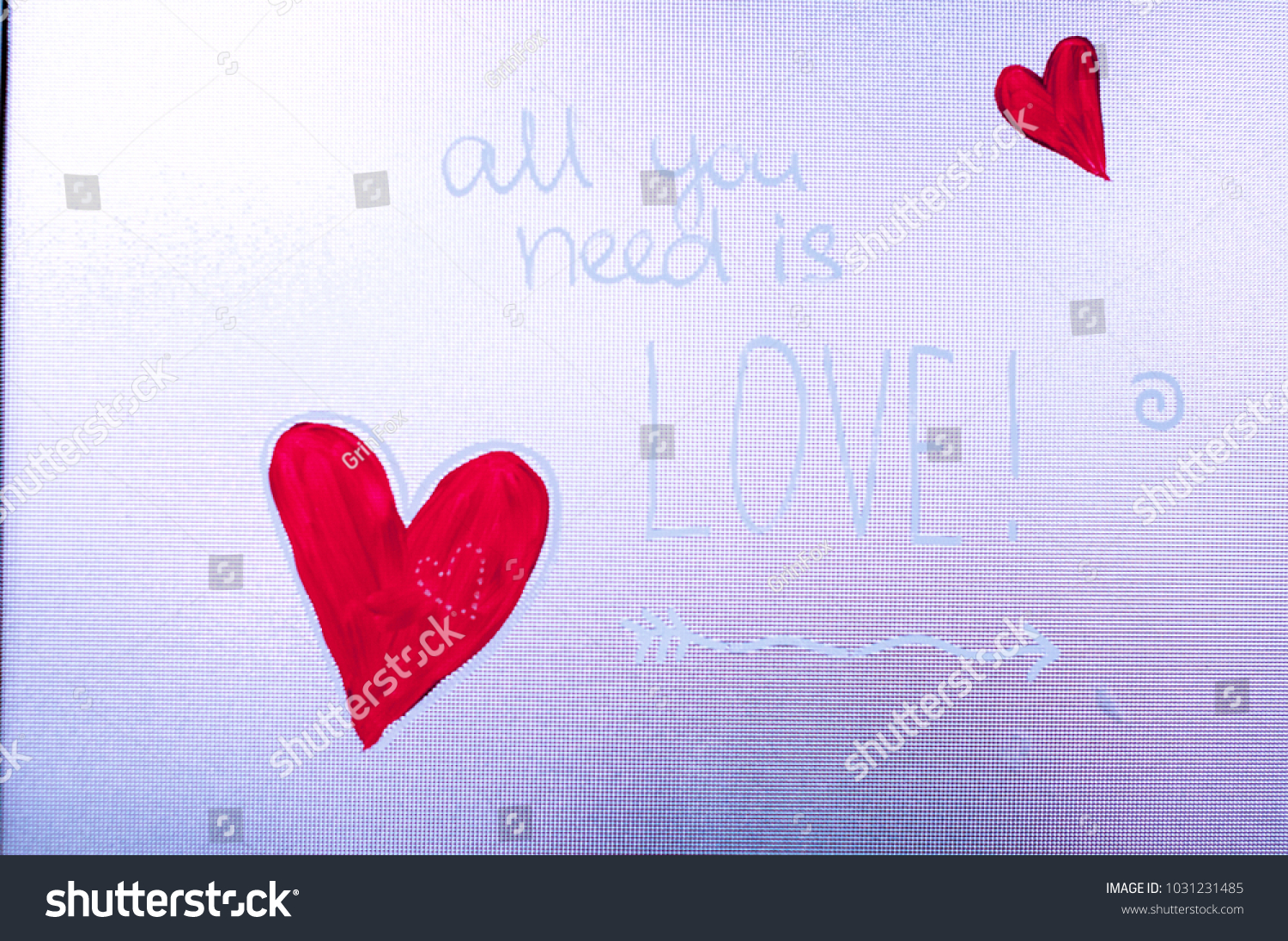 Painted Heart On Glass Valentine Day Stock Photo Edit Now